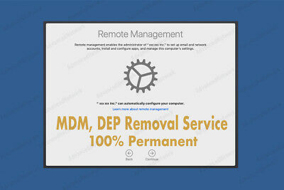 MDM Remote Management, DEP, EFI Removal Service for MacBook Pro, Air, Mac Mini