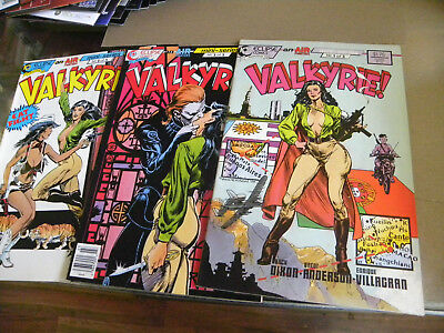 Eclipse 1988 Chuck Dixon Brent Anderson Air Fighters all 3 issues VALKYRIE 1 2 3