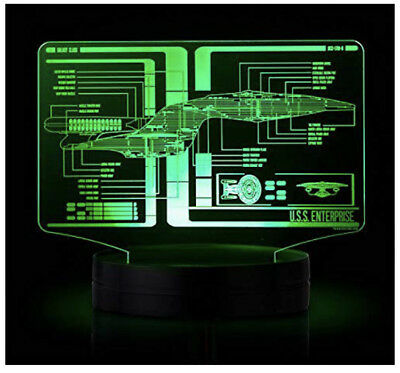 Star Trek (TOS and TNG) Schematic Illuminated Display LED seven-light cycle