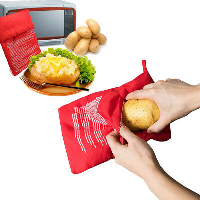 Washable Microwave Potato Cooker Bag Express Pouch 4 Minutes Fast Cooking 4packs