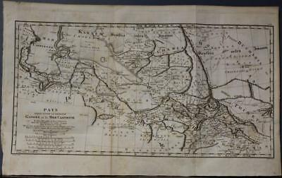 Caspian Sea Iran Iraq Tibet Snorth India 1804 Rennell Unusual Antique Map