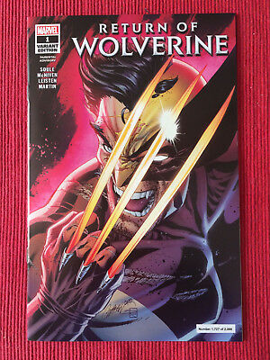 Return Of Wolverine #1 Campbell Nycc 2018 Variant Glow In The Dark Sold Out Nm