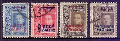 Thailand  1914/15  Overprints, used.