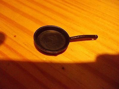 Black Metal Frying Pan For A Dolls House
