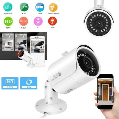 Wireless 1080P WIFI IP Camera Onvif P2P Outdoor Security Bullet IR Night Vision