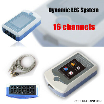 New Dynamic EEG System 16 channels EEG Holter 24hr record box analysis software