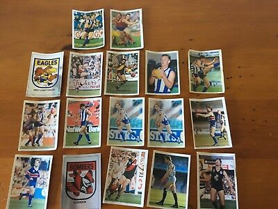 1991 Vfl/afl Football Stickers Bulk Lot