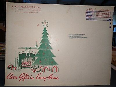 1940's Avon Product Christmas Mailing Envelope