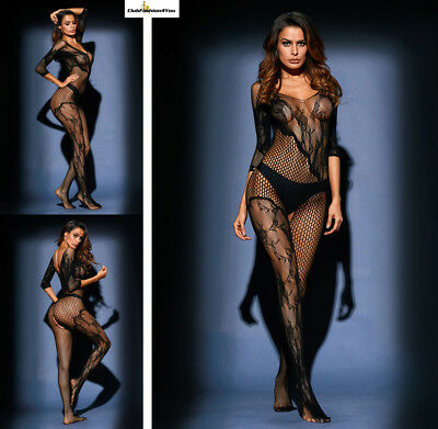Hot Reizwäsche Fishnet Body Stocking Catsuit Netz Body Unterwäsche |H| 79977-2
