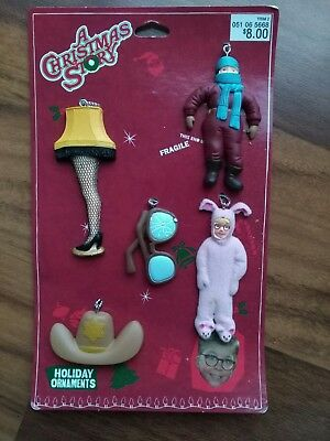 "Five  ""A Christmas Story"" Holiday Ornaments New Rare  Ralphie Leg Lamp"