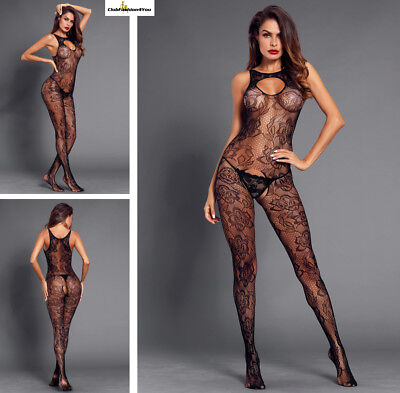 Hot Reizwäsche Fishnet Body Stocking Catsuit Netz Body Unterwäsche |H| 790026-2