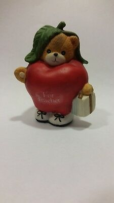 LUCY & ME BEARS - DRESSED AS AN APPLE FOR TEACHER - Enesco Lucy Rigg