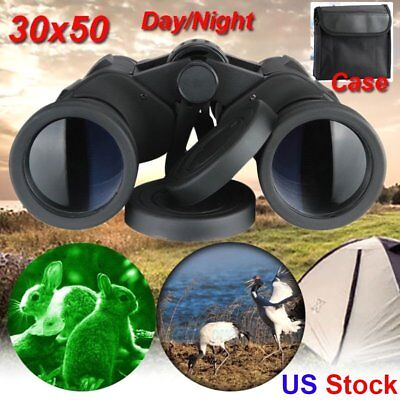 20x50 Zoom Day Night Vision Outdoor Travel HD Binoculars Hunting Telescope+Case