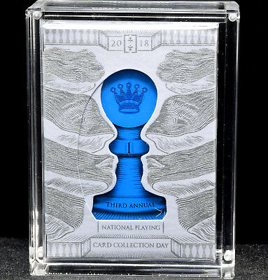 NPCCD 2018 Playing Cards W/Intaglio engraving, White/Silver Deck, Hand Gilded