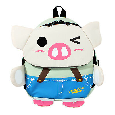 Child Toddler PreK Movie Cartoon Book Bag School Backpack Pig-Gray Outdoor Cute
