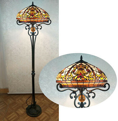 Beautiful Handcrafted Tiffany Style Stained Glass Floor Lamp