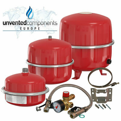 Flamco Heating Expansion Vessels 8,12,18,25,35 litre System Sealed Kit Bracket