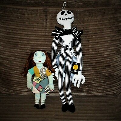 A Nightmare Before Christmas Jack Skellington & Sally Cloth Dolls