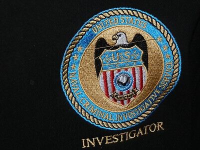NCIS Badge embroidered onto Hoodie size 34inch chest, 152cm height New