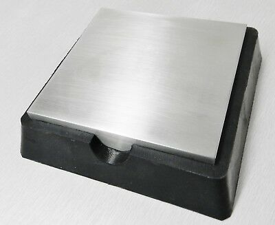 """4"""" Steel & Rubber Block Double Sided Combination Metal Working Anvil Bench Tools"""