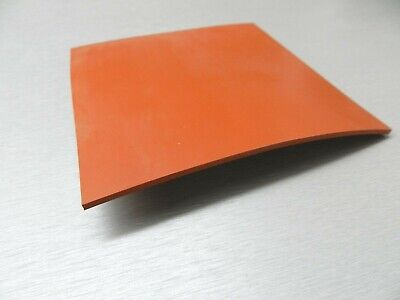 "Silicon Rubber Sheet High Temp Solid Red/Orange Commercial Grade 12"" x 12"" x1/4"""
