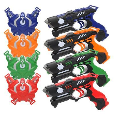 Laser Tag Gun Set of 4 Pack Kids Toy Blasters Multiplayer Mode Indoor Outdoor