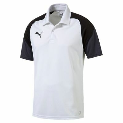 2fe221b0a859 Puma Kids Esito 4 Polo Shirt Top Training Football Sports Junior White Black