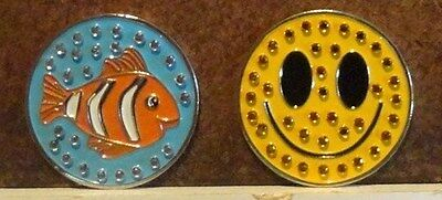 1 only SMILEY FACE GOLF BALL MARKER TO GO WITH A HAT CLIP from SPORTE LEISURE