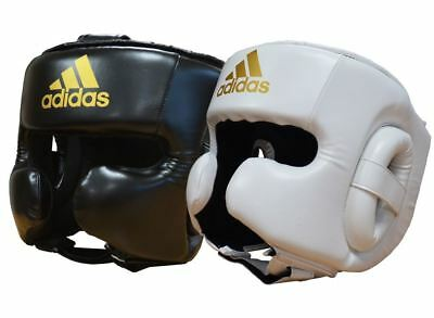 Adidas Speed Boxing Head Guard Sparring Ear Cheek Protection Black White
