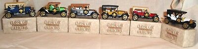 Collector Set of Toy Miniatures Classic Cars (6) From Early 1900's