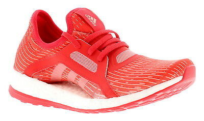 a920f9ec8 Adidas Pureboost Womens Ladies Running Trainers Gym Shoes Red White UK Size