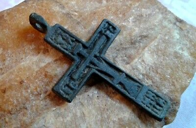 "RARE 17-18th CENT. RUSSIAN NORTH ORTHODOX ""OLD BELIEVERS"" CROSS THE ""CREED"" TEXT"