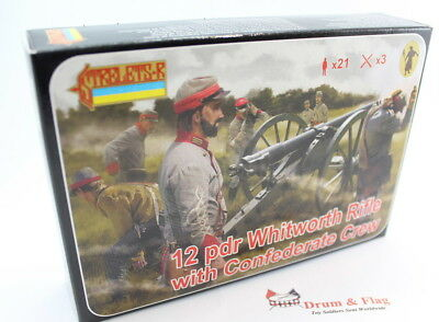 Strelets Set 183 - Whitworth Rifle with Confederate Crew - ACW - 1/72 Scale