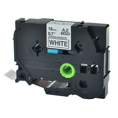1PK TZeS241 TZ S241 TZS241 Black On White Label Tape For Brother P-Touch 18mm