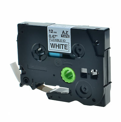 """1PK TZe TZFX 231 Black On White Label Tape For Brother P-Touch PT-6100 1/2"""" 12mm"""