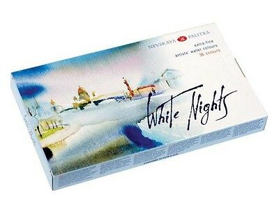 White Nights Artists Watercolour 36 colors in plastic tray by Nevskaya Palitra