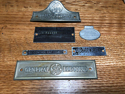 1930s GE Monitor Top Refrigerator Set of Factory Labels
