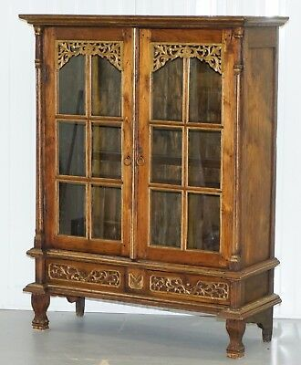 Stunning Hand Carved Antique French Louis 18Th -19Th Century Bookcase Cabinet