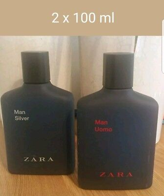 244307fa Zara mens aftershave Uomo + Sliver 2 x 100ml duo spray pack EDT new sealed  pack