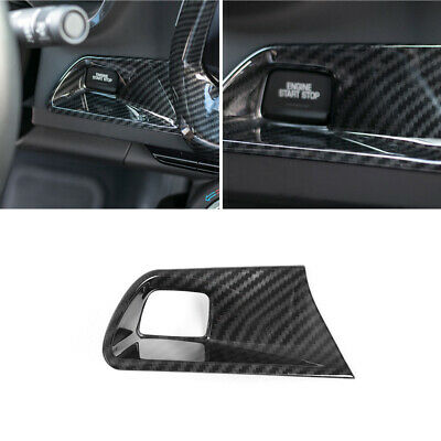Carbon Fiber Start Button Decorative Cover Trim for Chevrolet Camaro 2016-2017
