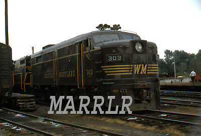RR Print-Western Maryland WM 303-2 at Hagerstown Md 9/3/1960