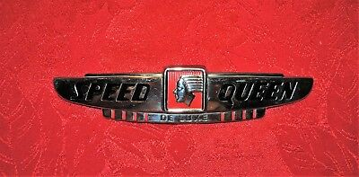 Vintage OEM Speed Queen Deluxe Wringer Washer Metal Nameplate Emblem Sign Logo