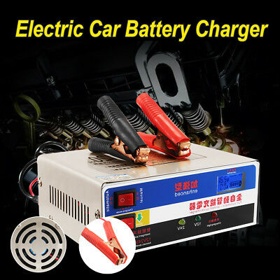 Electric 120AH 12/24V Car Dry Wet Battery Charger Smart Intelligent Pulse Repair