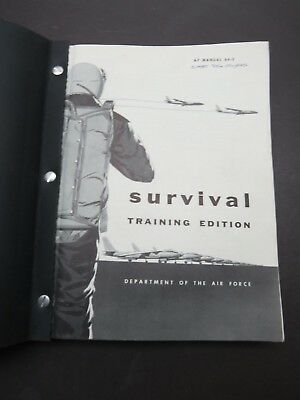 Original 1956 Air Force 373pg Aircrew Survival Training Manual