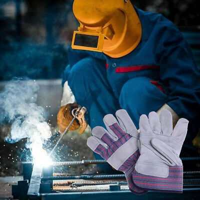Pro safe welding work soft cowhide leather plus gloves for protecting hand UK