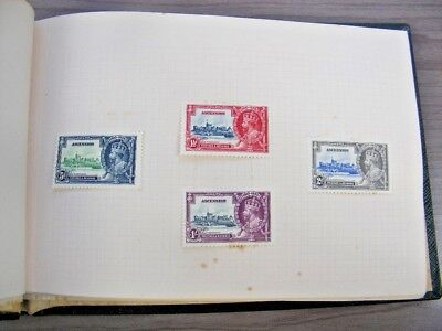 BRITISH COLONIES, 1935 Silver Jubilee Mint Stamps hinged in a Specialty book