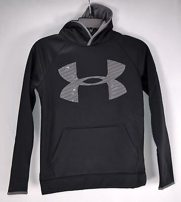 Youth, Under Armour, Fleece Storm Highlight Pullover Hoodie, Black/graphite, M