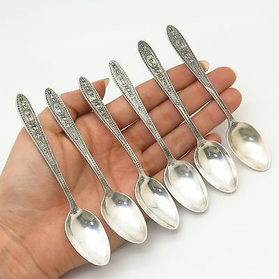 925 Sterling Silver Vintage International Co. Set of 6 Coffee Spoons