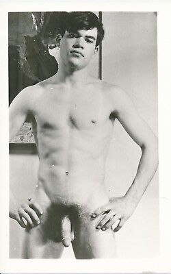 GUILD PRESS 1960s Male Nude Physique Figure Study Photo Body Builder with Bangs