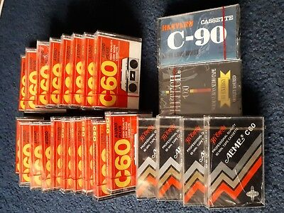 Job lot of new and sealed blank cassette tapes Ross, Acme, Harvard, Hi-Tech